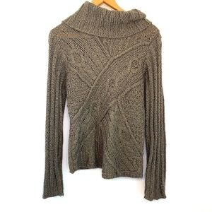 JH Collectibles brown knit cowl neck sweater